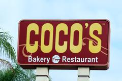 Coco's Restaurant  Sign Stock Photos