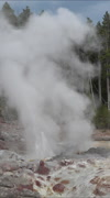 Steamboat Geyser Norris Basin Yellowstone National Park vertical HD Stock Footage