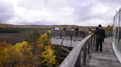 Algonquin Park Visitor Center Viewing Balcony Stock Footage
