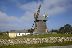 Nebel (Amrum) - Wind mill - stock photo