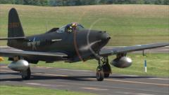 Bell P-63 Kingcobra Taxi In Stock Footage