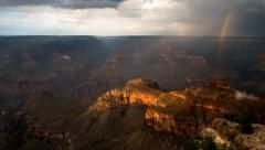 Grand Canyon timelapse with double rainbows Stock Footage