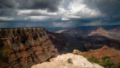 Grand Canyon view time lapse Yaki point Stock Footage