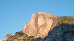Yosemite park // Half Dome // sunset timelapse Stock Footage