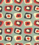 Modern colored curved rectangle pattern - tileable - stock illustration