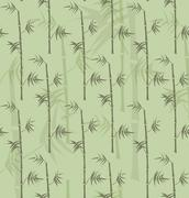 Repeatable bamboo stems texture Stock Illustration