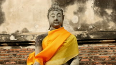 Zoom Out - Statue of Buddha - Thailand Stock Footage