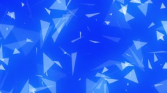 Glowing Blue Spinning Triangles Psychedelic Abstract Background Loop 2 Stock Footage
