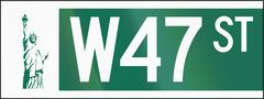 New York City W47 - stock illustration