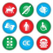 Accessibility icons - stock illustration