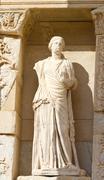 Sculpture in Library of Celsus, Ephesus, Turkey - stock photo
