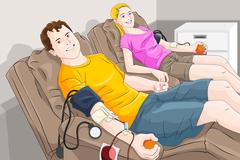 Blood donation - stock illustration