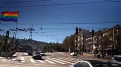Stock Video Footage of Castro Street Establishing Shot