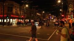 Castro Street Night Establishing Shot   - stock footage
