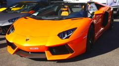 Lamborghini Aventador LP 700-4 Roadster Stock Footage
