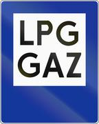 LPG Gas Station Stock Illustration