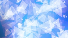 Bright Glowing Blue Spinning Triangles Psychedelic Abstract Background Loop 2 - stock footage