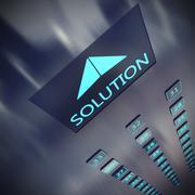 Solution elevator - stock illustration