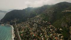 Eze Aerial over lower Eze panning left Stock Footage