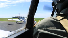 North American P-51 Taxi POV - stock footage