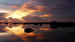 Time Lapse of Scenic Tropical Sunset in Phuket Thailand - stock footage