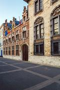 Old House with Museum of Ruben, Antwerp - stock photo