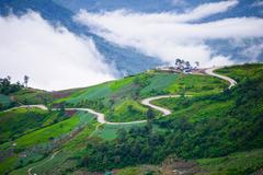 Mountain road at ( phu tubberk) in Phu Hin Rong Kla National Park Stock Photos
