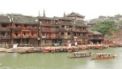 Boat Excursions Fenghuang Stock Footage