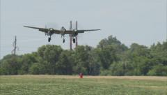 P38 Ruff Stuff Landing Stock Footage
