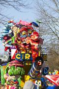 OLDENZAAL, NETHERLANDS - MARCH 6: Giant  figures during the annual carnival - stock photo