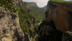 France Countryside Aerial through and over Gorges Du Verdon canyon Stock Footage