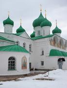 Alexander-Svirsky Orthodox monastery - stock photo