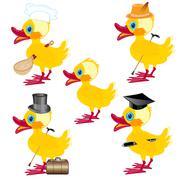 Cartoons on duck - stock illustration