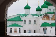 Alexander-Svirsky Orthodox monastery Stock Photos