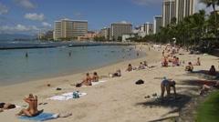 Scenic Waikiki Beach, Honolulu, Hawaii, Stock Footage