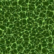 Vector seamless biological pattern - green veins Stock Illustration