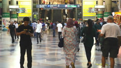 Time Lapse Central Station - Kuala Lumpur Malaysia Stock Footage