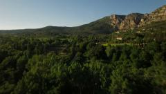 France Countryside Aerial very low over Moustiers-Saint-Marie area - stock footage