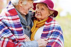 Tender embrace - stock photo