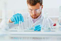 Occupation of microbiologist - stock photo