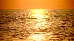 Beautiful sunny path to the sea at sunrise, sunset - stock footage