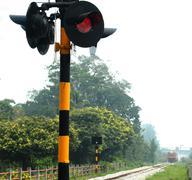 Light signal and train Kuvituskuvat