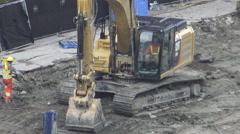 Excavator Leveling Ground 4k Stock Footage