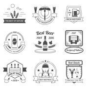 Beer Label Set - stock illustration