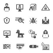 Hacker Icons Set Piirros