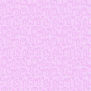 Pink Baby Tile Pattern Repeat Background Stock Illustration