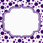 Stock Illustration of Purple and White Polka Dot Frame Background