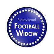 Professional Football Widow Button - stock illustration