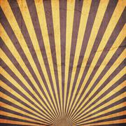 sunburst retro background and duplicate old paper texture - stock photo