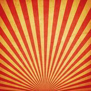 sunburst retro background and duplicate grunge texture - stock photo